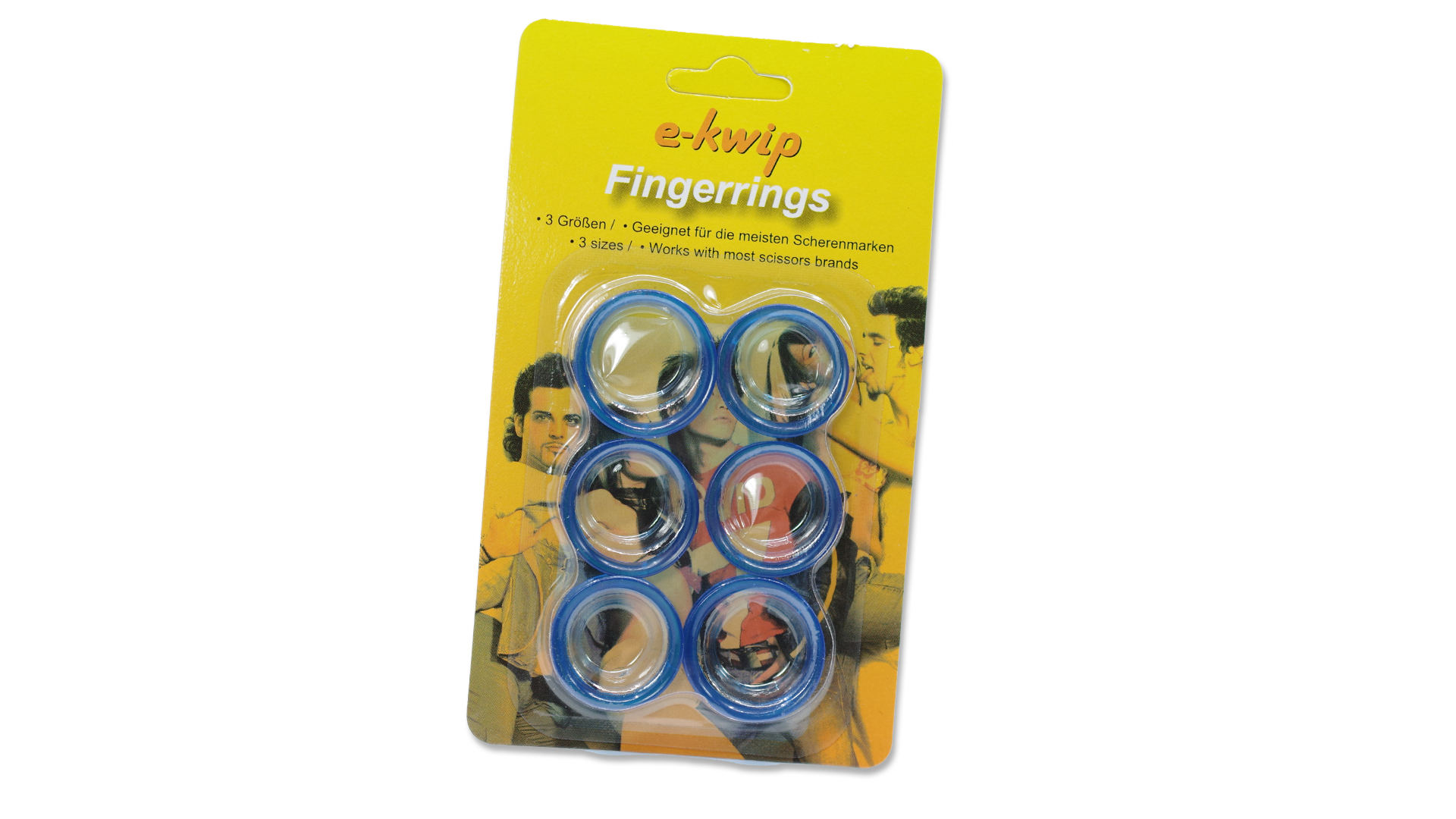 Fingerring-Set blau/blue